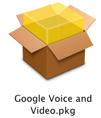 Google Voice and Video Icon screenshot: Double-click to download