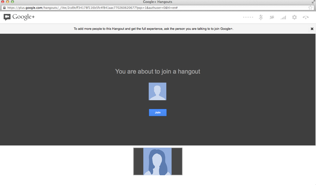 Join Hangout screenshot