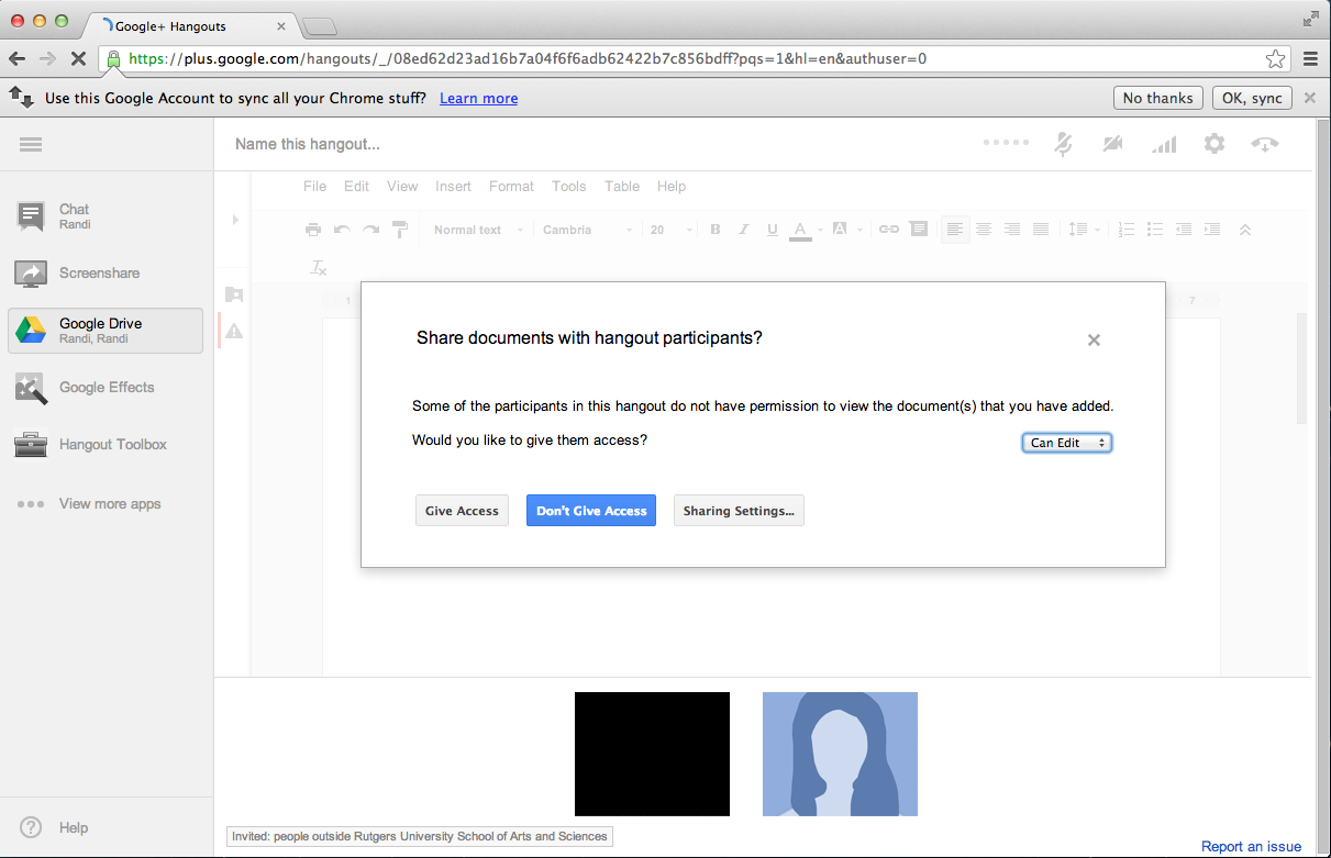 "Share Docs screenshot: Click ""Give Access"" to share your documents"
