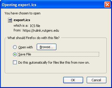 "Opening export screenshot: Click ""Save file"" and then ""OK"""