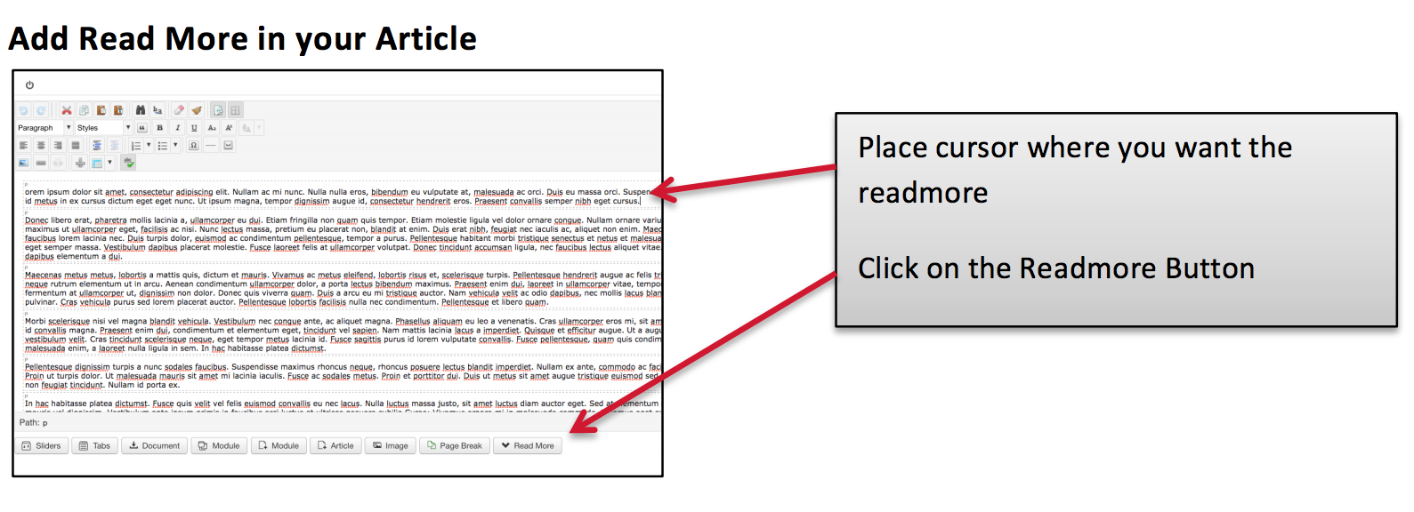 How to Add Read More button