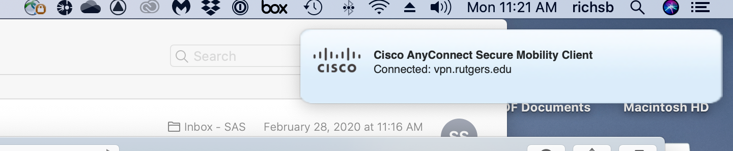 Installing Cisco AnyConnect VPN Mac 11