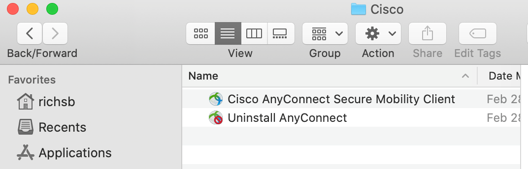 Installing Cisco AnyConnect VPN Mac 8