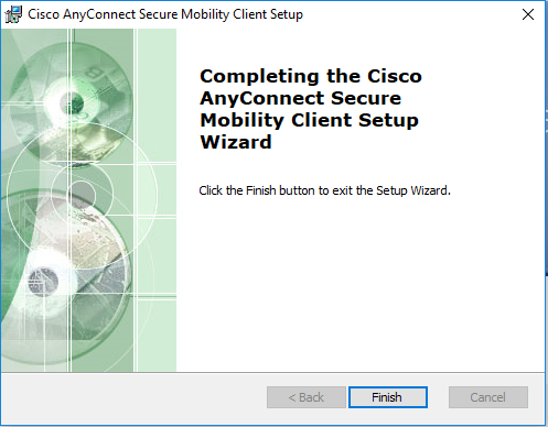 Installing Cisco AnyConnect VPN Windows 3