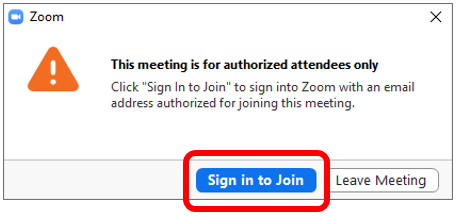 Logging into a Rutgers Zoom Meeting that Requires Authentication 01