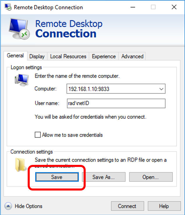 Remote Desktop Connection Windows via Remote Desktop Gateway 07