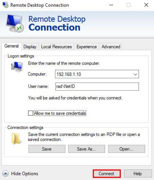 Remote Desktop Connection Windows via Remote Desktop Gateway 08