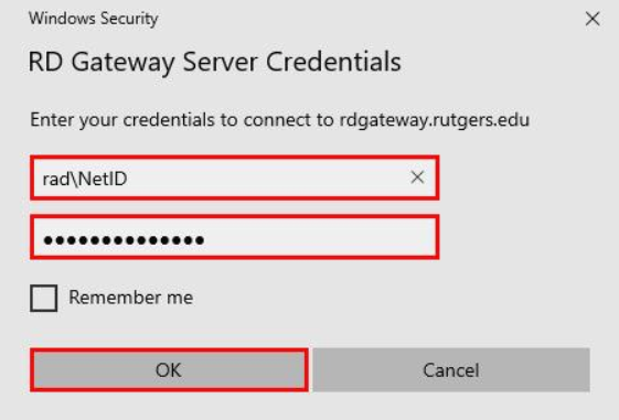 Remote Desktop Connection Windows via Remote Desktop Gateway 09