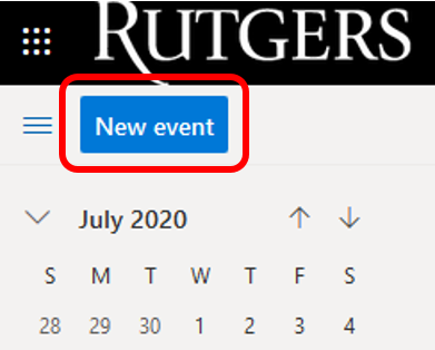 Scheduling Zoom Meetings in Rutgers Connect 02