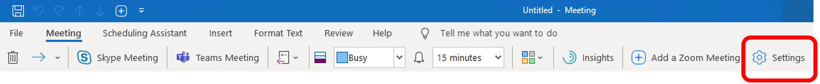 Scheduling Zoom Meetings on Behalf of Another User in Office 365 03