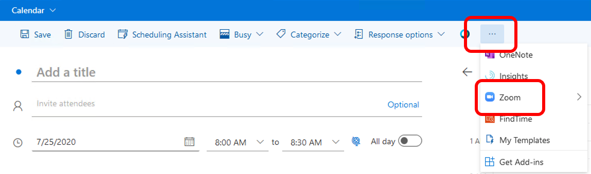 Scheduling Zoom Meetings on Behalf of Another User in Rutgers Connect 03