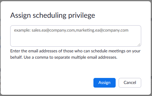 Scheduling Zoom Meetings on the Behalf of Another User 03