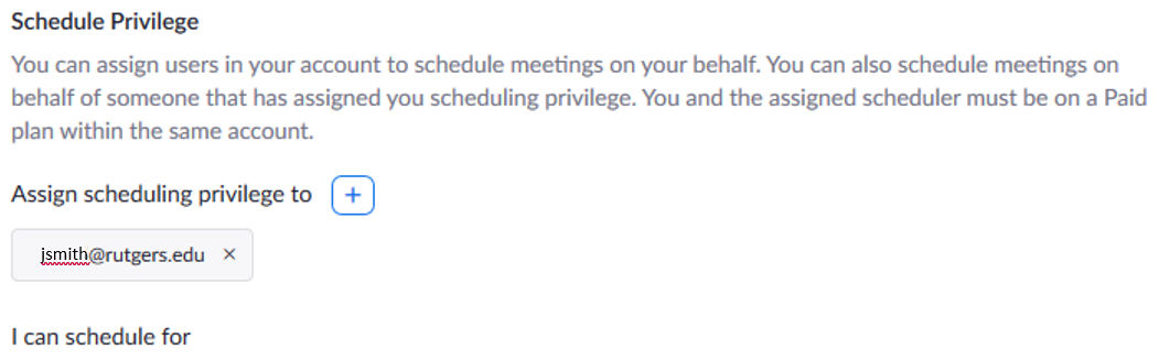 Scheduling Zoom Meetings on the Behalf of Another User 04