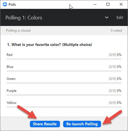 creating a poll in zoom 07