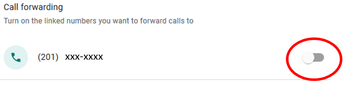 google voice call forwarding 10