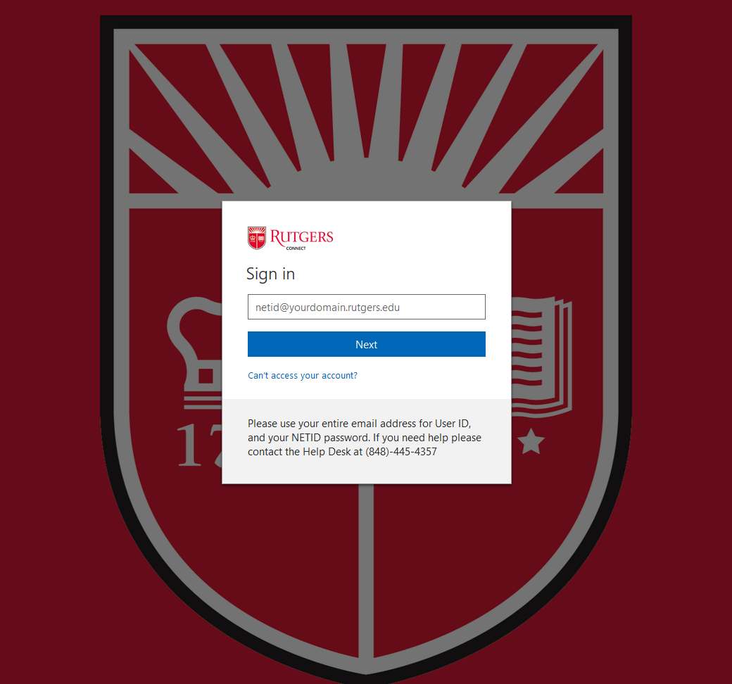 rutgers connect login
