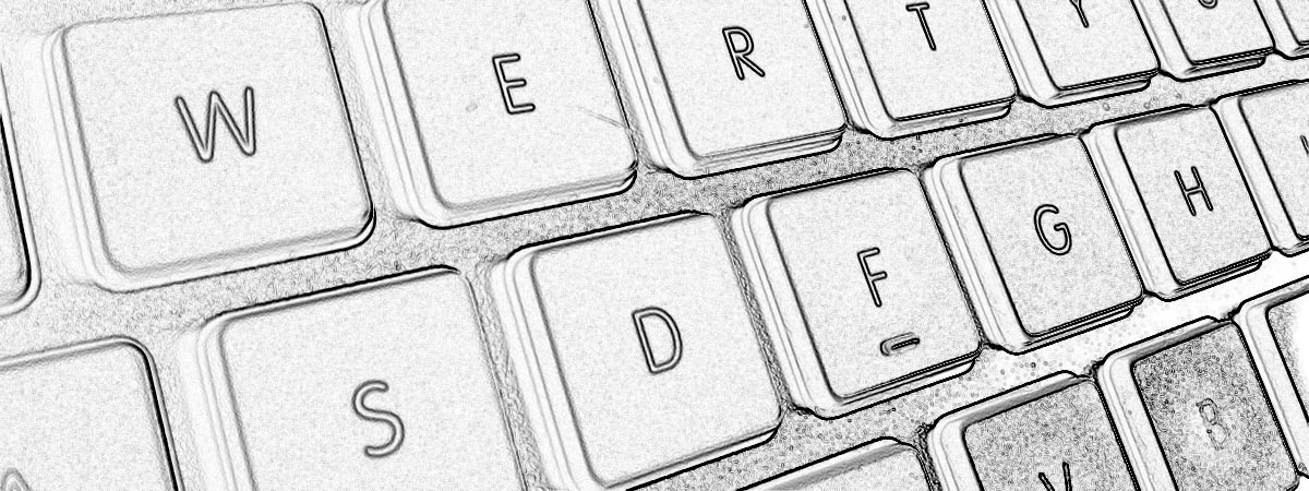 Artsy grahic black and white keyboard detail
