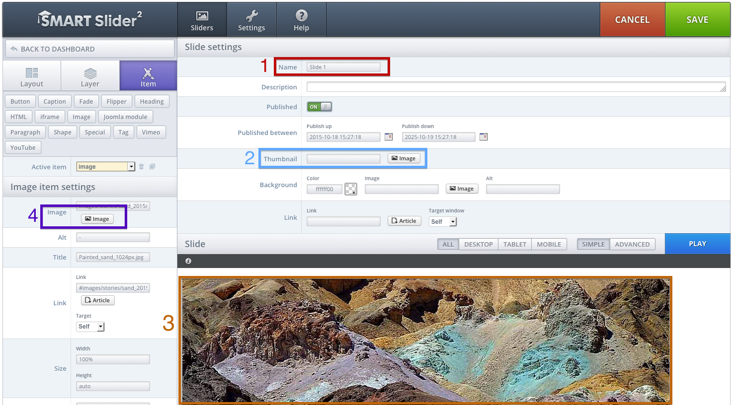 how to change alt text to image slider in moodle