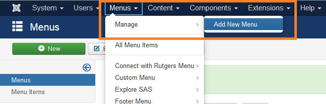 "Create ""Forms Menu"""