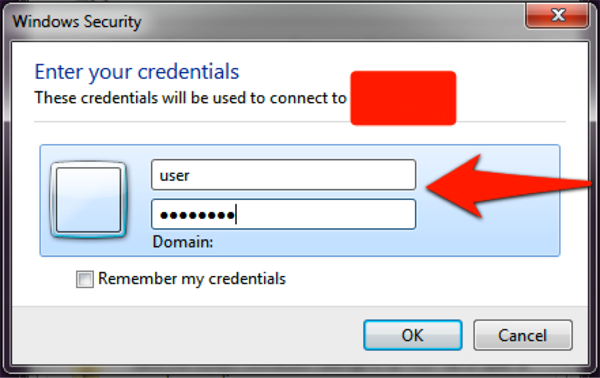 Login Screen screenshot: Enter your credentials and press OK